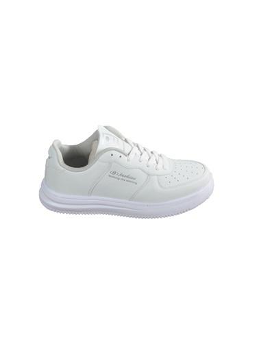 Bestof 042 Beyaz-Beyaz Kadın Spor Ayakkabı Beyaz